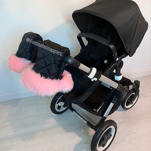 Extra Fluffy Baby Pink Single Pram Handmuffs