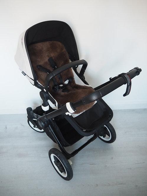 Chocolate Universal Sheepskin Pram Seat/ Carrycot Liner, Shorn