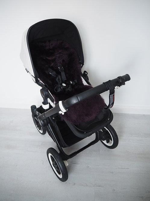 Blueberry Universal Sheepskin Pram Seat/ Carrycot Liner, Long