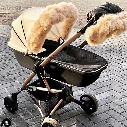 Extra Fluffy Beige Pram Fur Handmuff