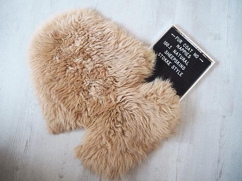 Caramel Stokke Sheepskin Pram Seat/ Carrycot Liner, Long