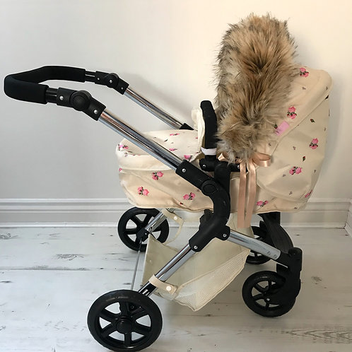 Snow Tiger Dolls Pram Hood Fur Accessory