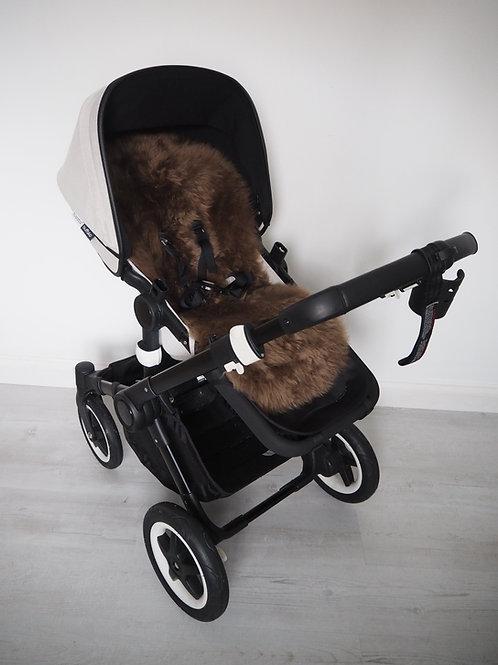 Toffee Universal Sheepskin Pram Seat/ Carrycot Liner, Long