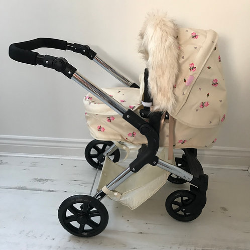 Teddy Dolls Pram Hood Fur Accessory