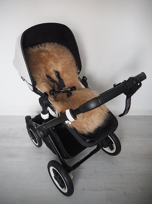 Caramel Universal Sheepskin Pram Seat/ Carrycot Liner, Long