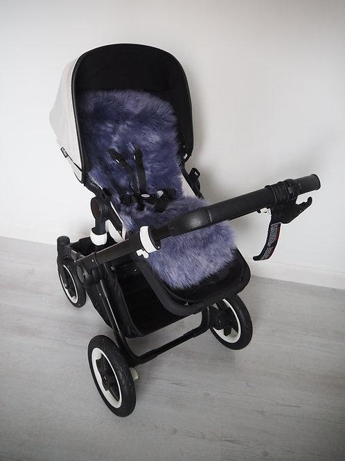 Parma Violet Universal Sheepskin Pram Seat/ Carrycot Liner, Long