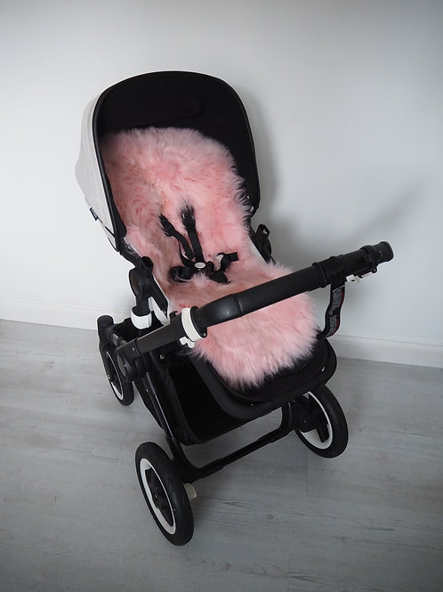 Bubble Gum Universal Sheepskin Pram Seat/ Carrycot Liner, Long