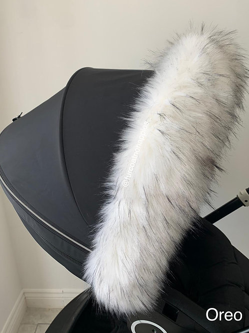 Oreo Extra Fluffy Pram Hood Fur
