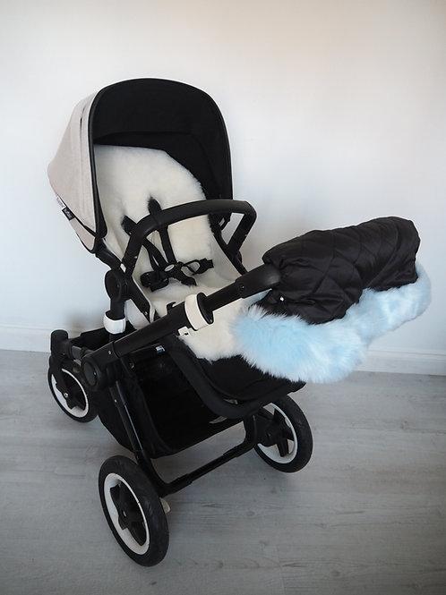 Extra Fluffy Baby Blue Fur Pram Handmuff