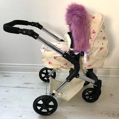 Lilac Dolls Pram Hood Fur Accessory