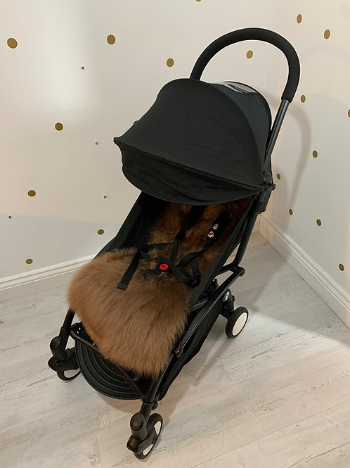 Toffee Sheepskin Capsule Pram Seat Liner - Long
