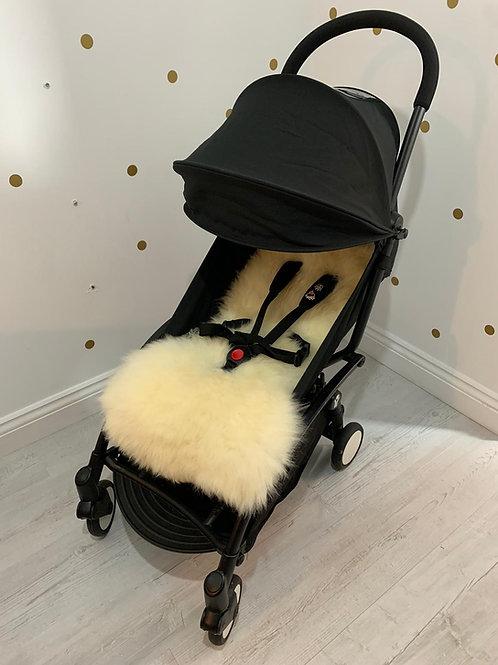 Popcorn Sheepskin Capsule Pram Seat Liner - Long