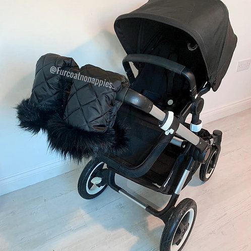 Original Black Single Pram Handmuffs
