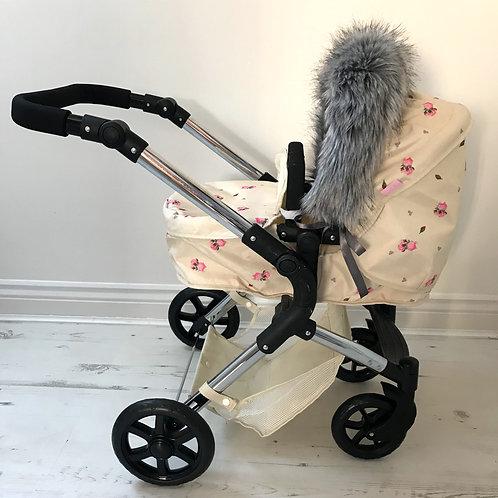 Husky Dolls Pram Hood Fur Accessory