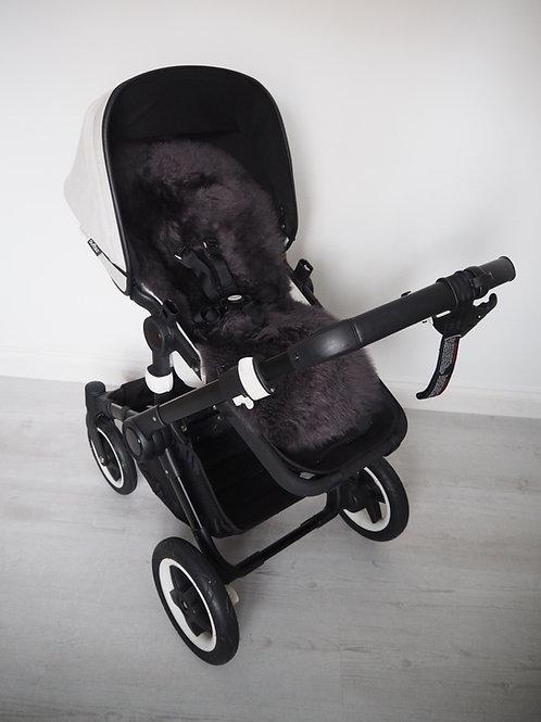 Bob Bon Grey Sheepskin Universal Pram Seat/ Carrycot Liner - Long