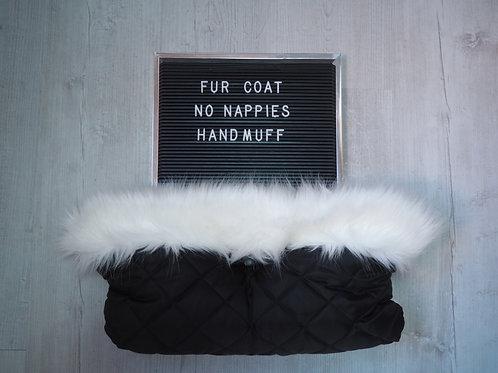 White Universal Pram Fur Handmuff