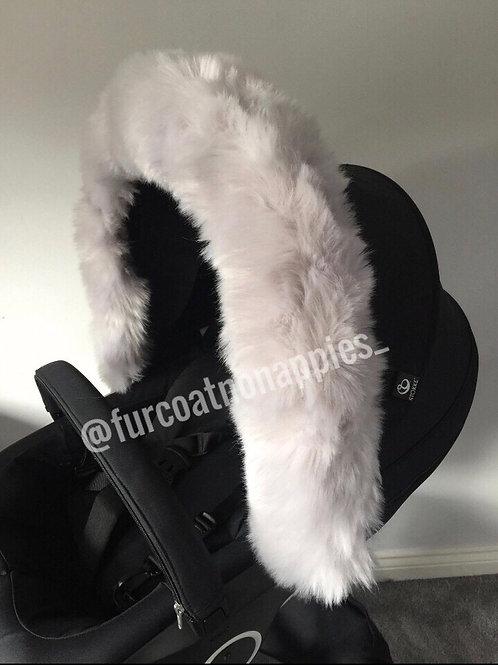 Soft Sliver Extra Fluffy Pram Hood fur