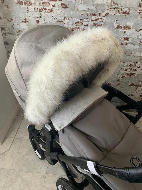 Arctic Fox Pram Fur Hood Trim