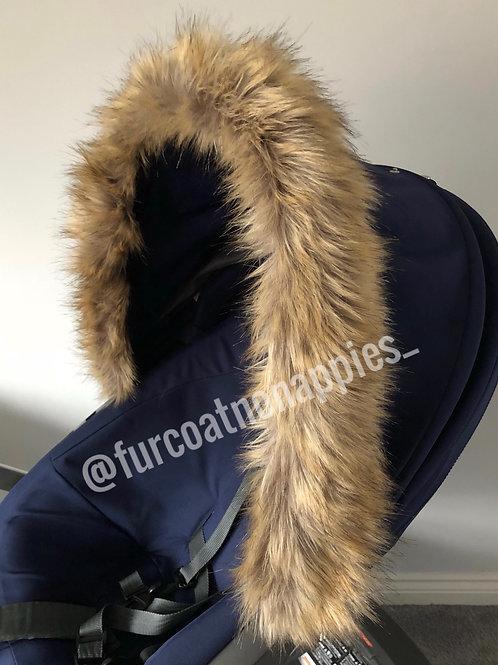 Alsatian Fur Pram Hood Trim