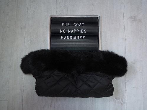 Extra Fluffy Black Pram Fur Handmuff
