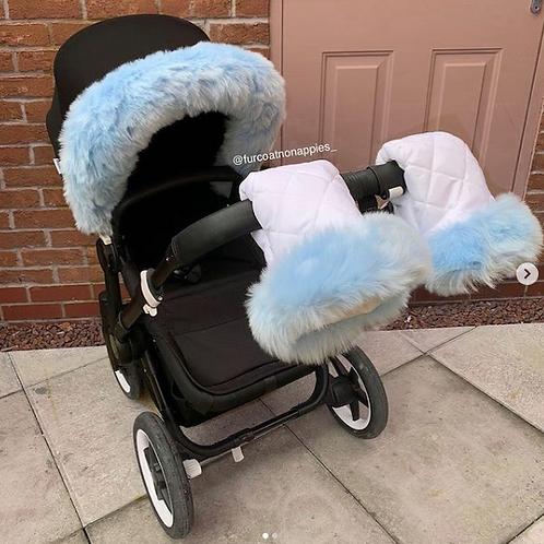 Extra Fluffy Blue Single Handmitts