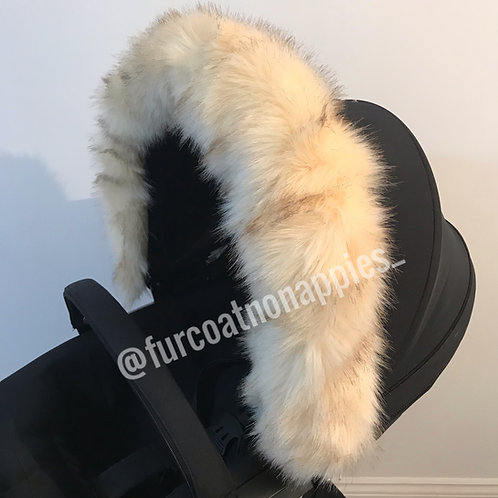 Extra Fluffy Teddy Pram Fur Hood Trim