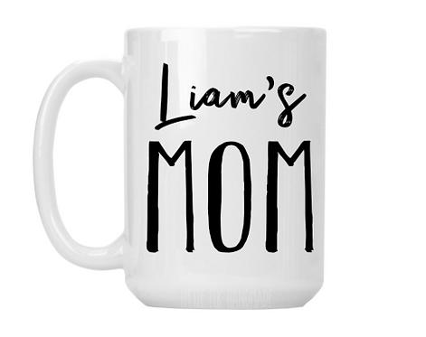 Personalized Mom Mug, Kids Name Mug, Gift for Mom from Kids, Gift for New Mom, N