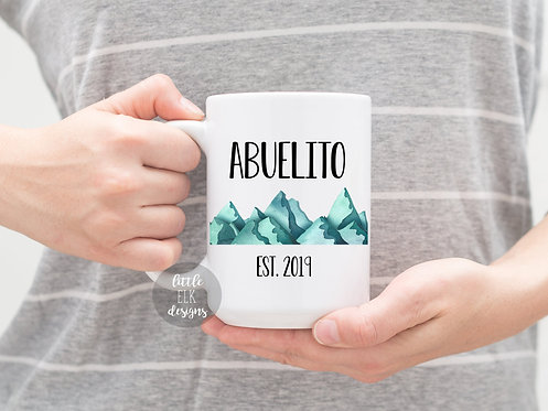 Abuelito  Mug, New Grandparent Pregnancy Announcement Gift For Grandpa Establish