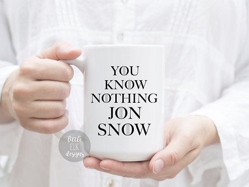 You Know Nothing Jon Snow 15 oz Coffee Mug