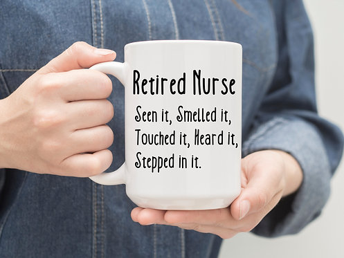retired nurse mug