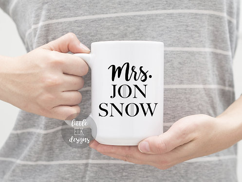 Mrs Jon Snow 15 oz Coffee Mug