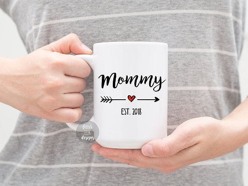 Custom Mommy Established Year 15 oz Coffee Mug