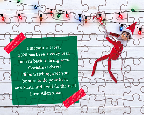 Personalized Christmas Elf Puzzle for Kids
