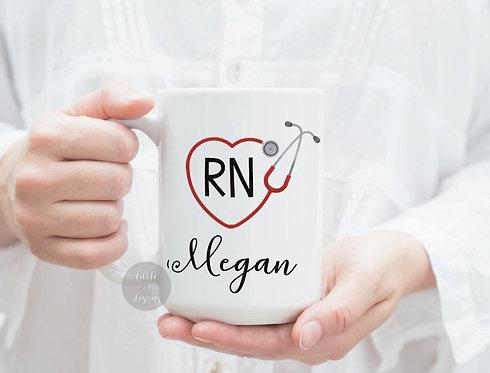 Rn Custom Name Mug