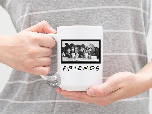 Halloween Mug, Hocus Pocus Friends, Jason, Michael Myers, Freddy Mug, Best Frien