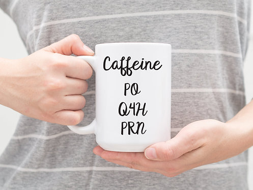 Nurse Caffeine 15 oz Coffee Mug