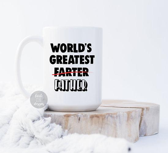 World's Greatest Farter Father 15 oz Coffee Mug