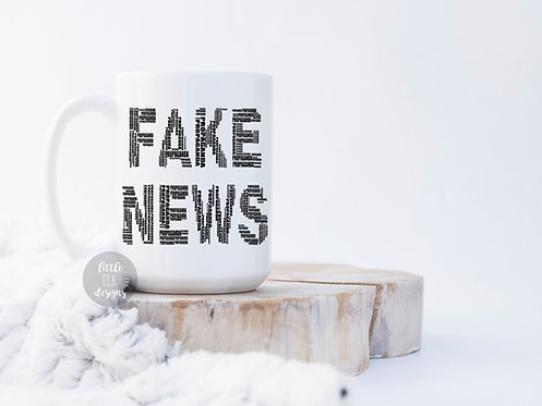 Fake News Donald Trump 15 oz Coffee Mug