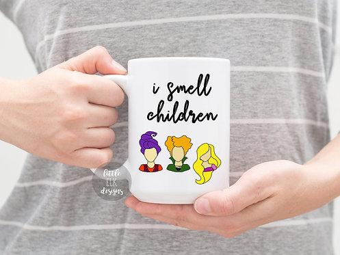 Hocus Pocus  I Smell Children  Halloween 15 oz Coffee Mug