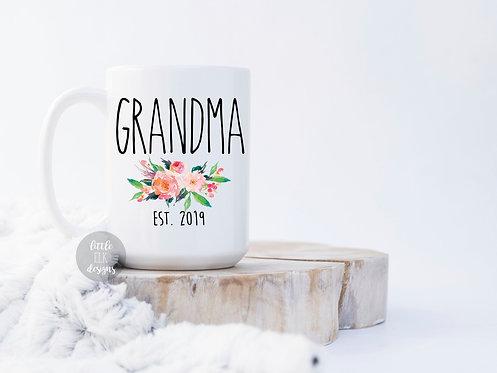 New Grandparent Pregnancy Announcement Gift For Grandma Established 2019 - For M