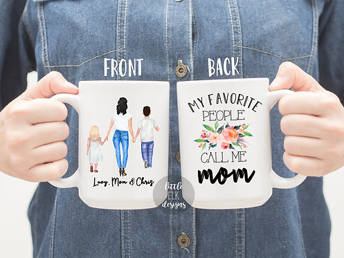 Personalized Mother  Gift, My Favorite People Call Me Mom Mug , Gift to Mom, Mot
