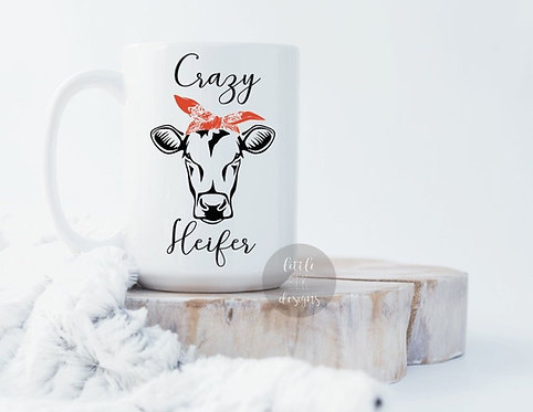 crazy heifer cow funny coffee mug cup large