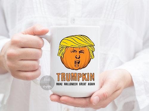 trump halloween pumpkin mug
