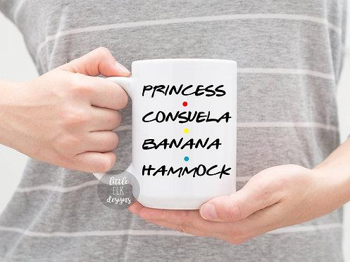 princess consuela banana hammock coffee mug cup large 15 oz