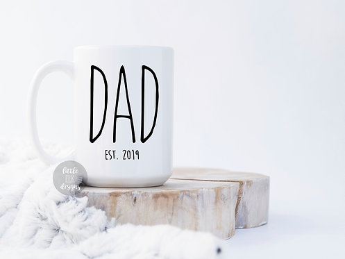 New Dad Pregnancy Announcement Gift For Him - Dad Established 2019 or 2020 Coffe