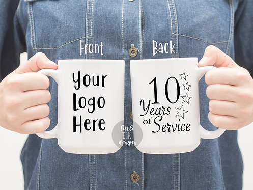 Years of Service Gift Company Logo Mug Employee Mug Employee Appreciation Gifts