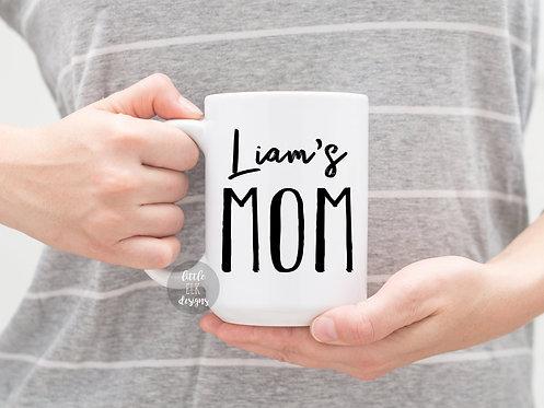 Personalized Mom Mug, Kids Name Mug, Gift for Mom from Kids, Gift for New Mom, N