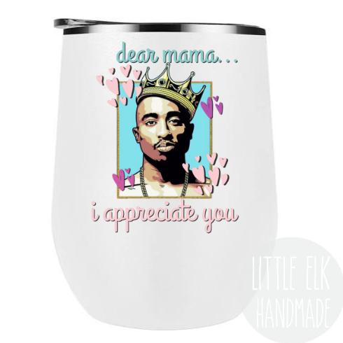 Tupac Wine Tumbler
