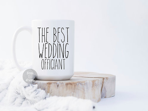 Wedding Officiant  for A Woman Wedding Officiant Proposal Ask 15 oz Coffee Mug