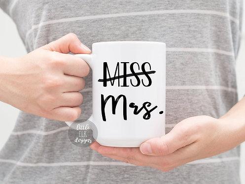 Miss to Mrs 15 oz Coffee Mug